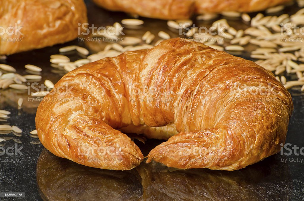 Fresh baked croissant royalty-free stock photo