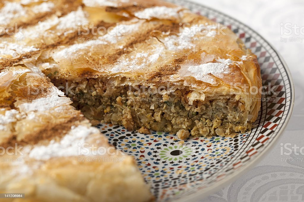 Fresh baked Moroccan Pastilla royalty-free stock photo