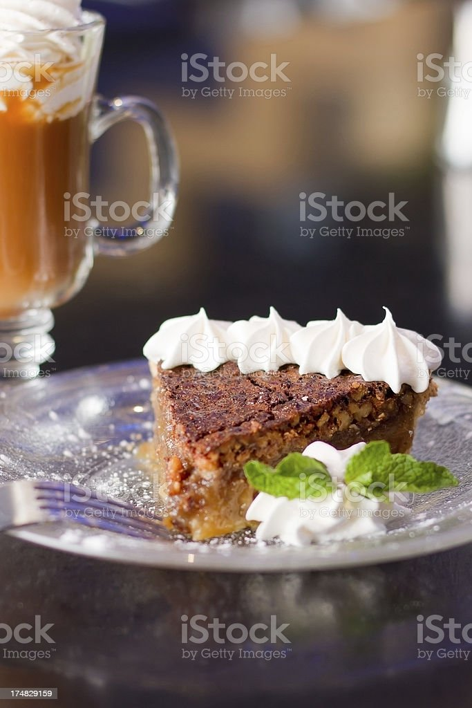 Fresh Baked pie and a drink royalty-free stock photo