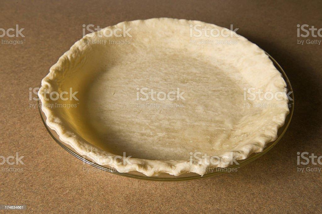 Fresh baked pie shell royalty-free stock photo