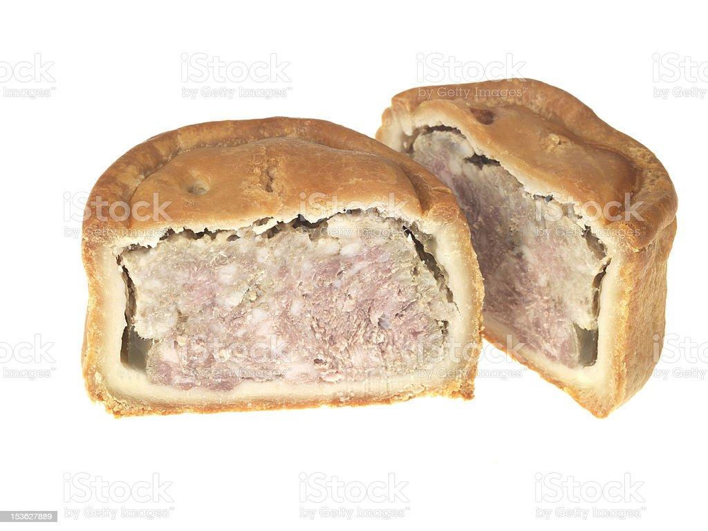 Fresh Baked Pork Pie stock photo