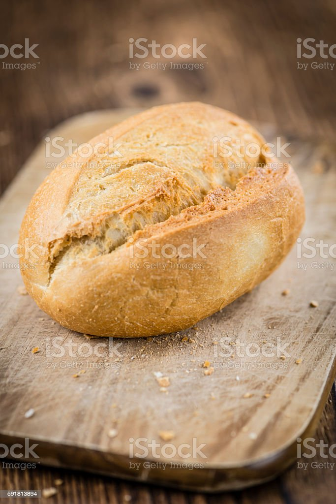 Fresh baked Rolls (selective focus) stock photo