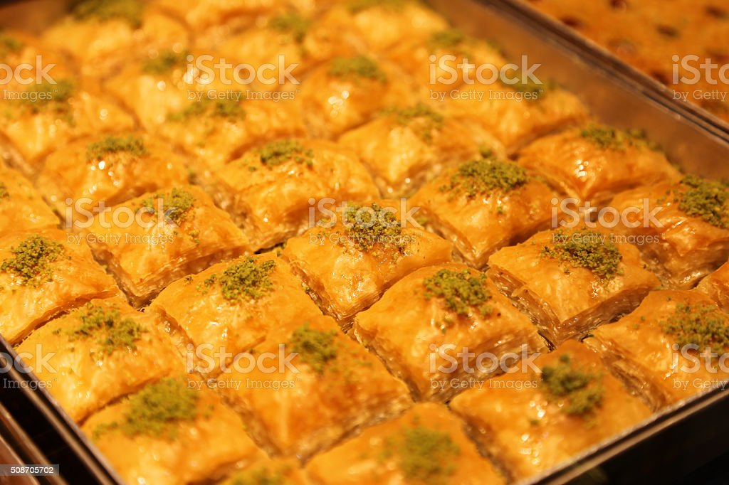 Fresh Baklava stock photo