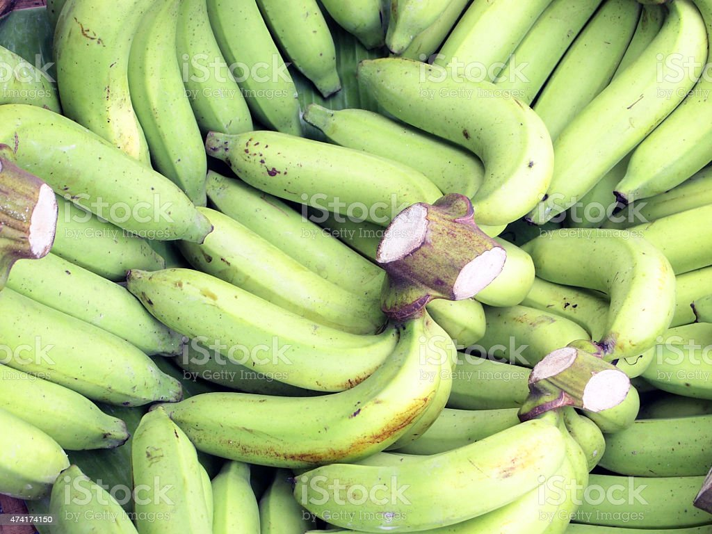 Fresh bananas background stock photo