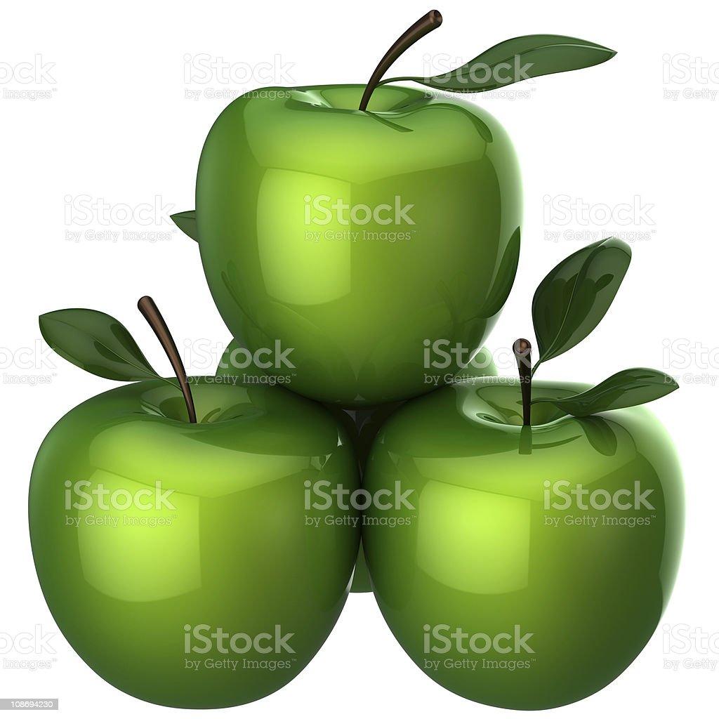 Fresh beautiful apples (Hi-Res) royalty-free stock photo