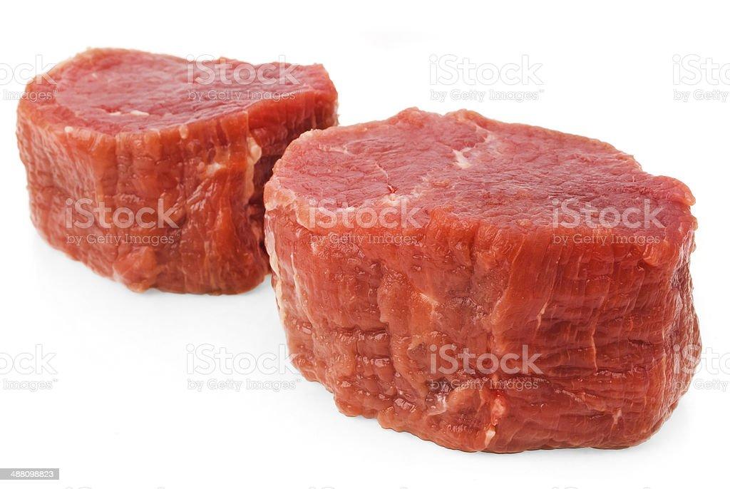 fresh beef isolated on white stock photo