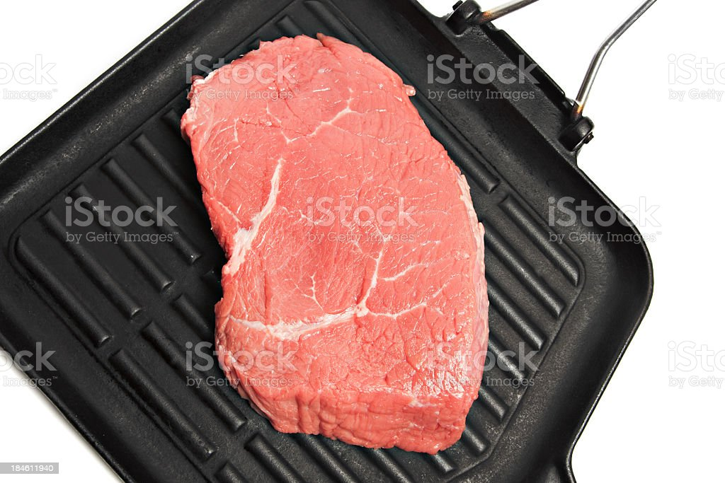 Fresh beef on the grill royalty-free stock photo