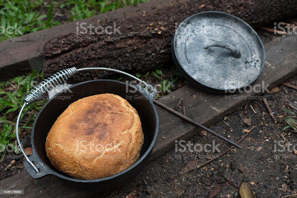 Fresh beer damper bread stock photo