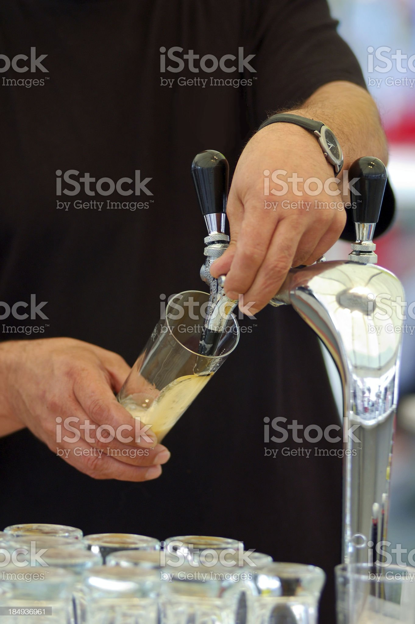 fresh beer royalty-free stock photo