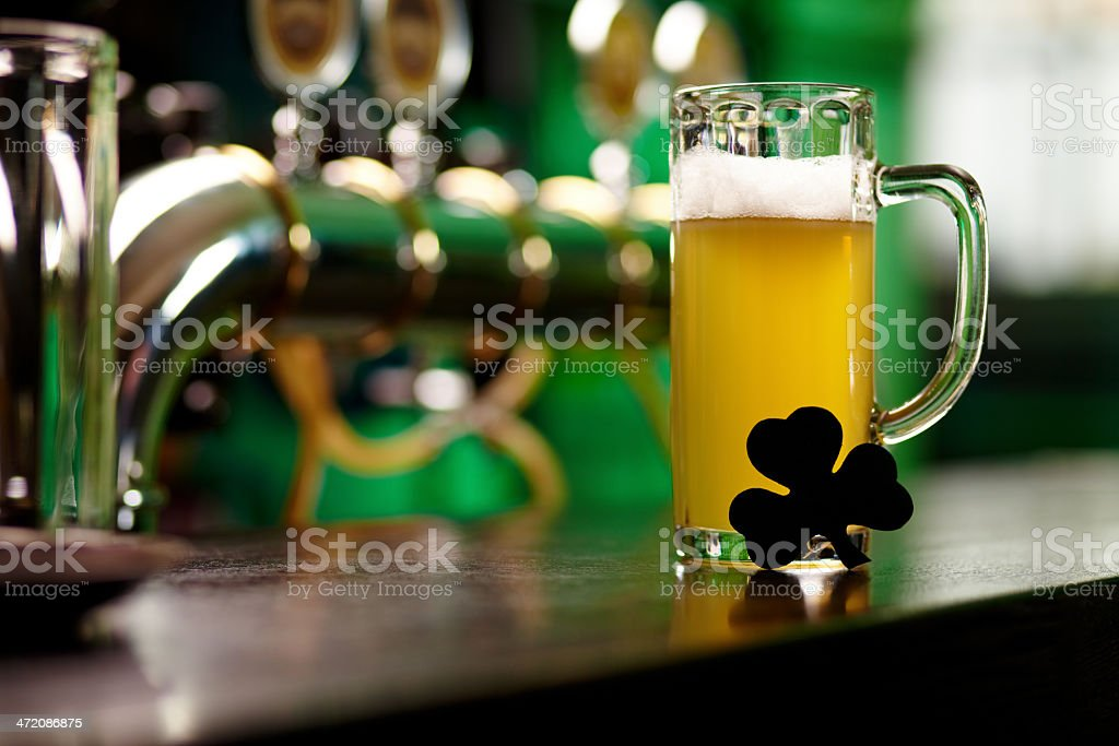 Fresh beer stock photo