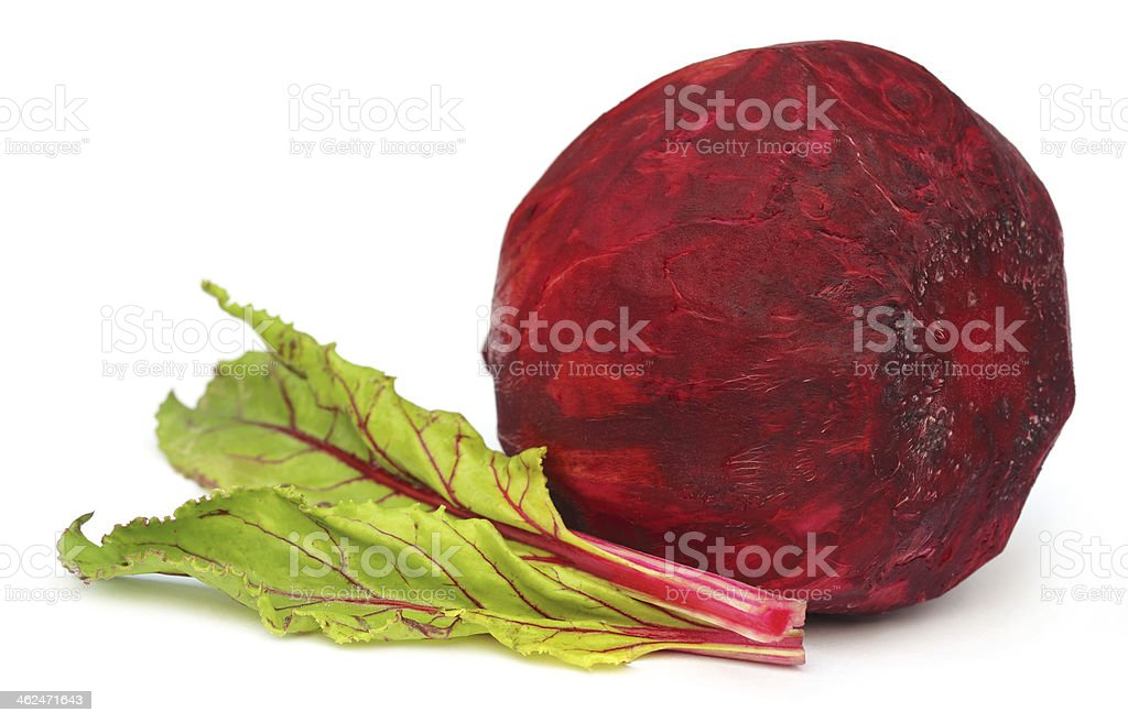 Fresh Beet with leaves royalty-free stock photo