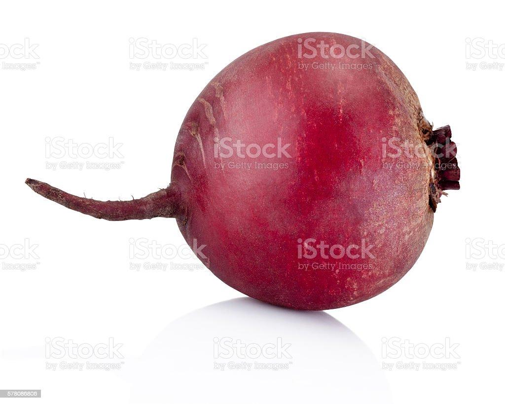 Fresh beetroot isolated on white background stock photo