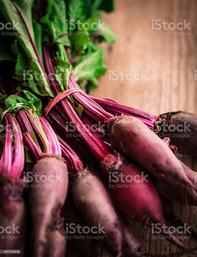 Fresh beetroot on wooden table stock photo