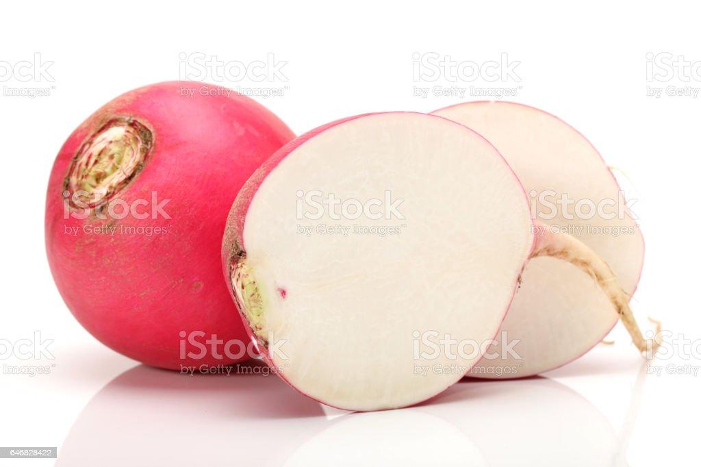 Fresh beetroot (radish) isolated on white background stock photo