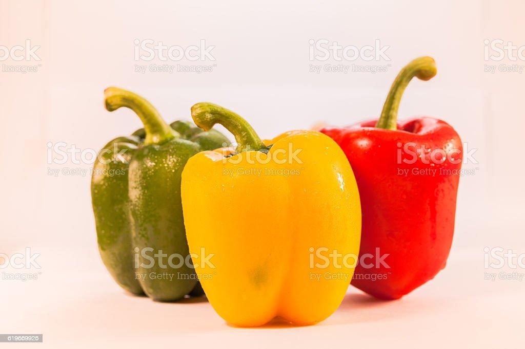 fresh bell pepper stock photo
