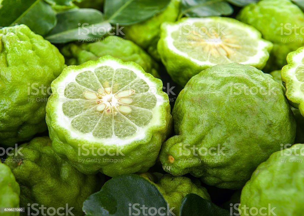 fresh bergamot stock photo