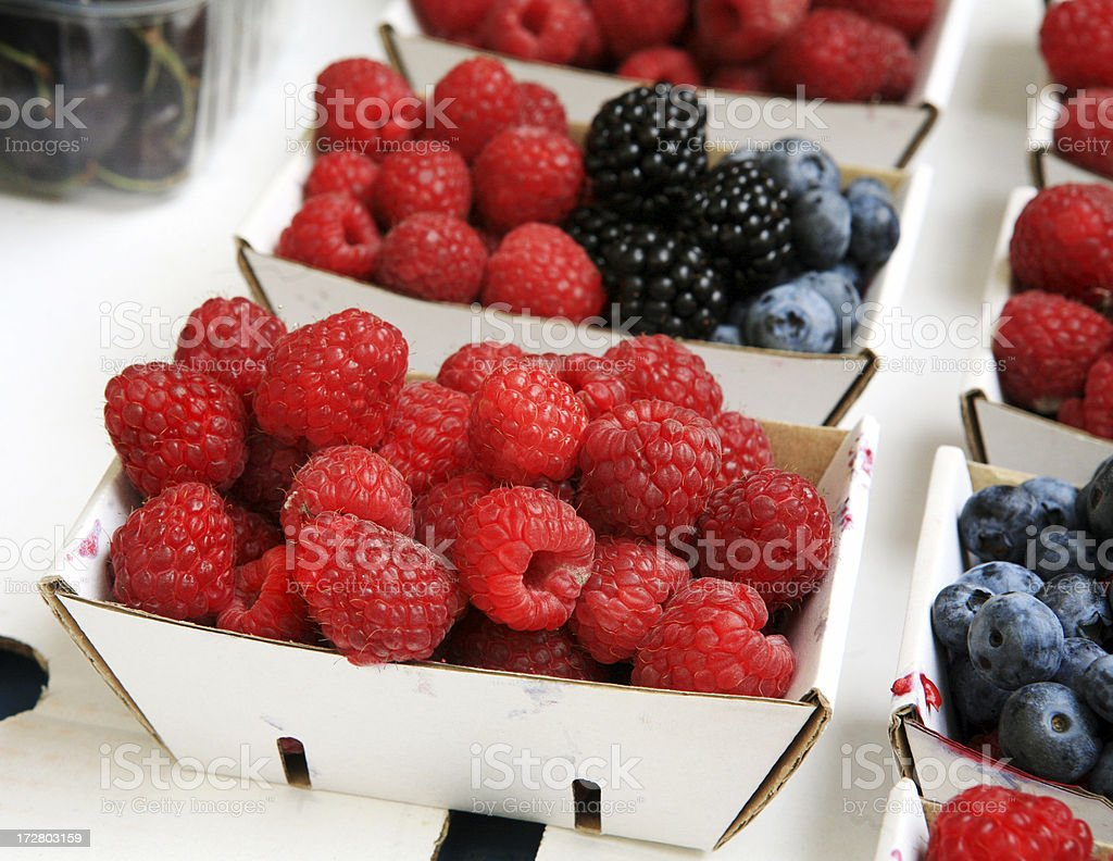 Fresh Berries at Market royalty-free stock photo