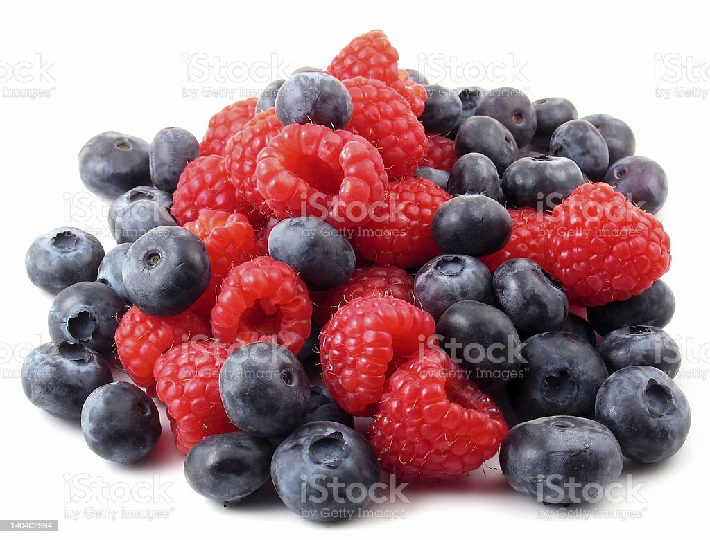 Fresh berries in a pile stock photo