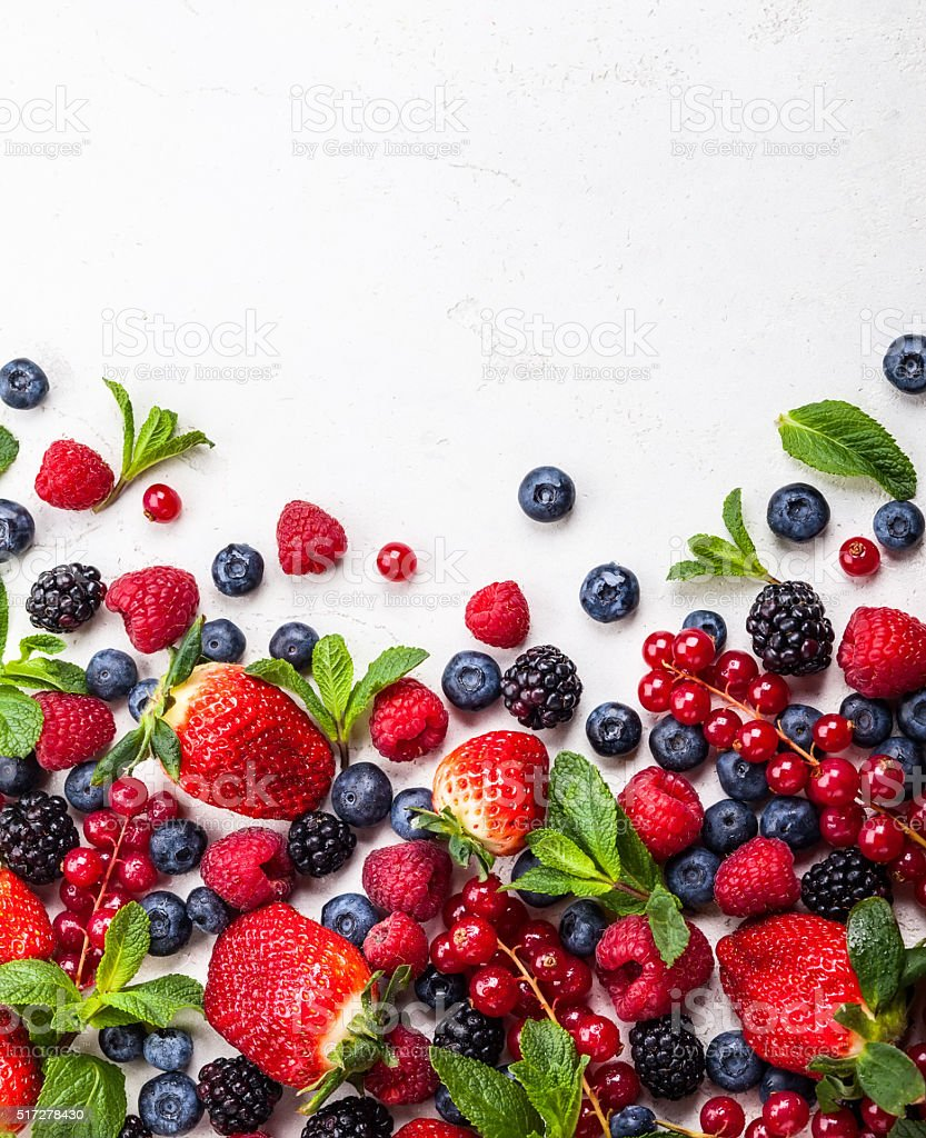 Fresh berries stock photo