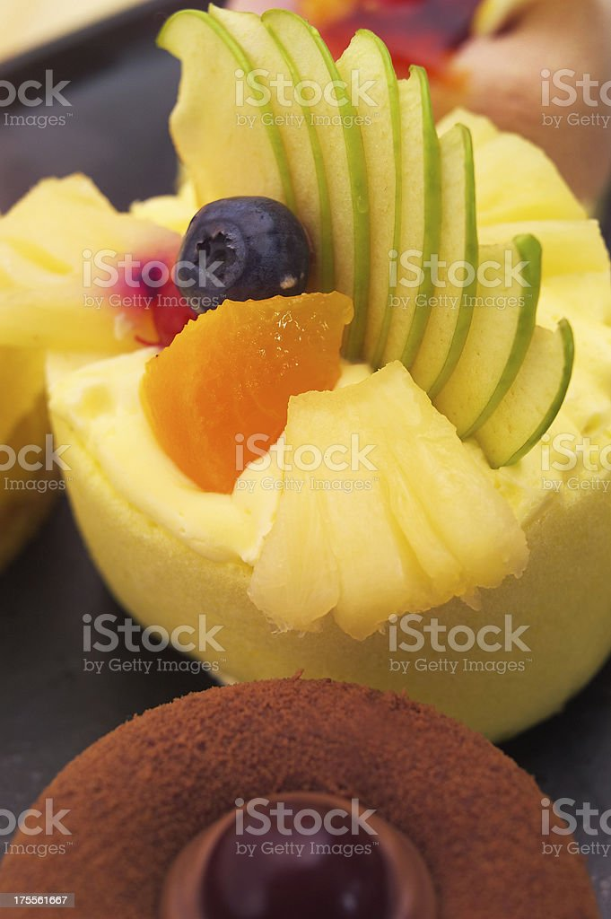 fresh berry fruit cake royalty-free stock photo