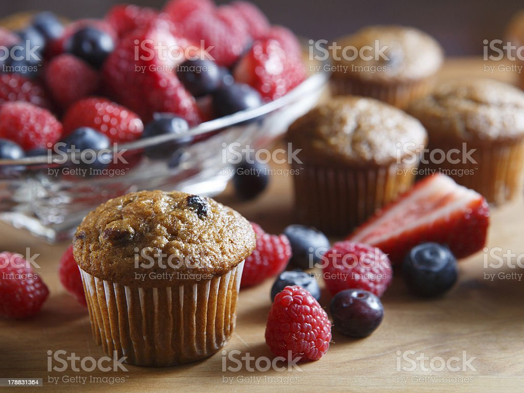 Fresh Berry Muffins stock photo