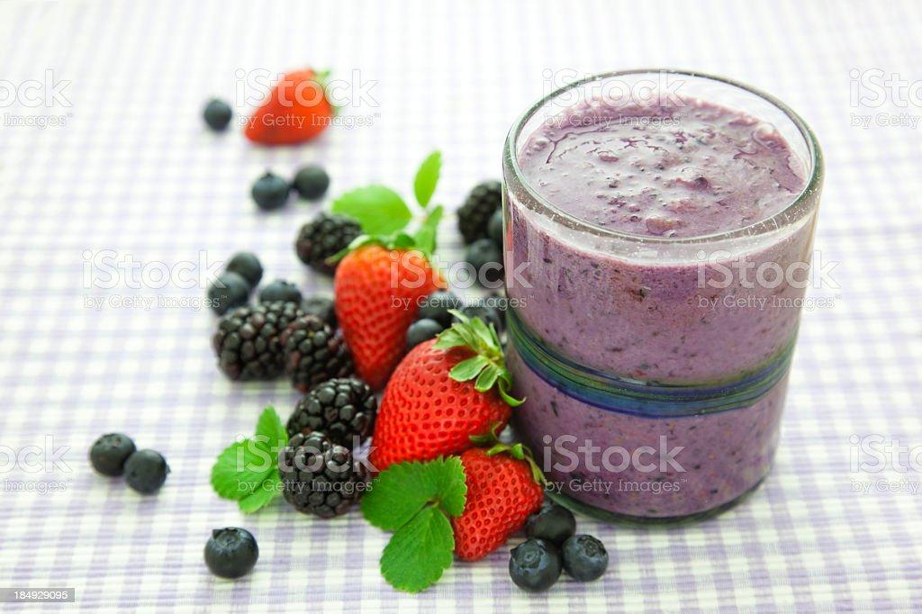 Fresh Berry Smoothie stock photo