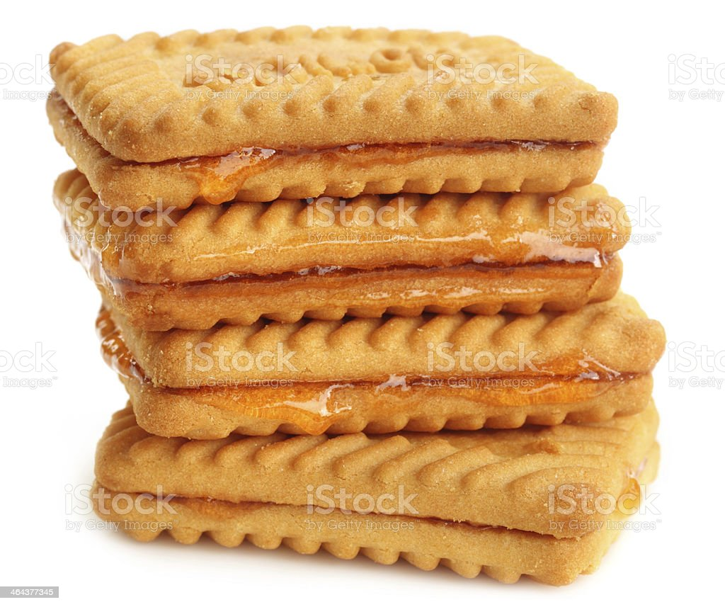 Fresh biscuits with jelly royalty-free stock photo