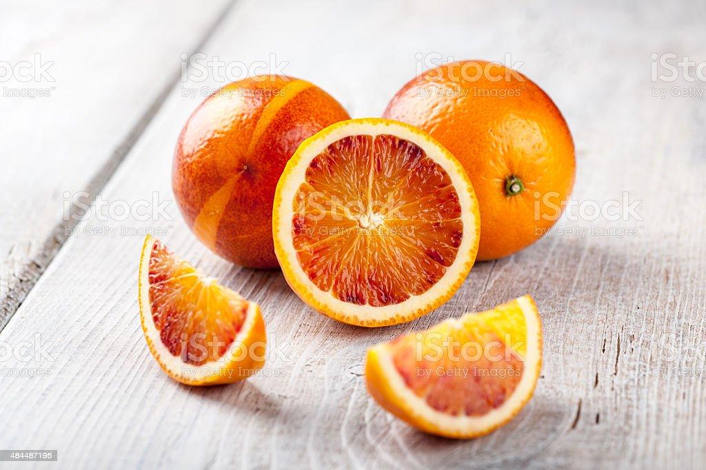 Fresh blood oranges stock photo