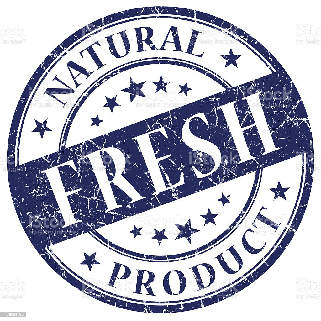 Fresh blue stamp royalty-free stock photo