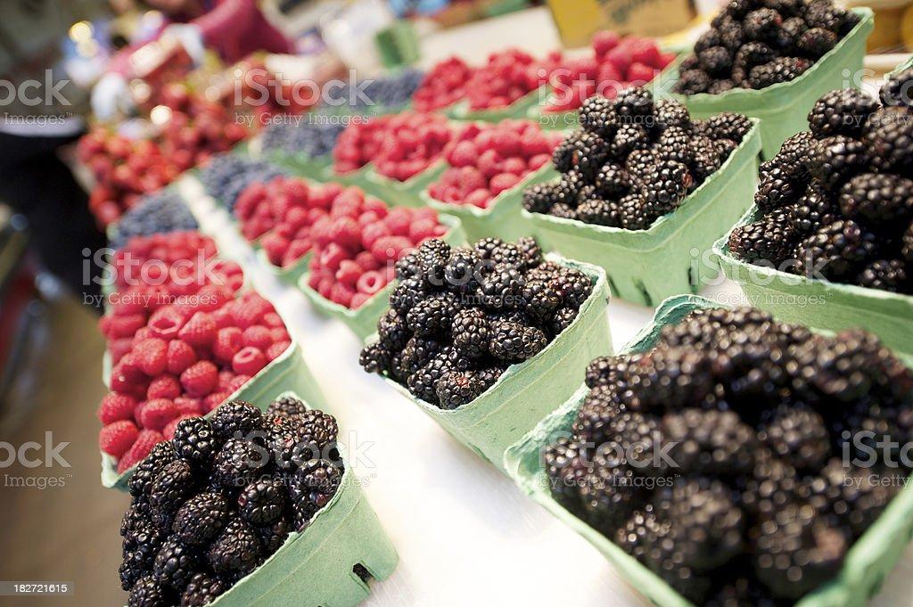 fresh blueberries and rasberries.jpg royalty-free stock photo