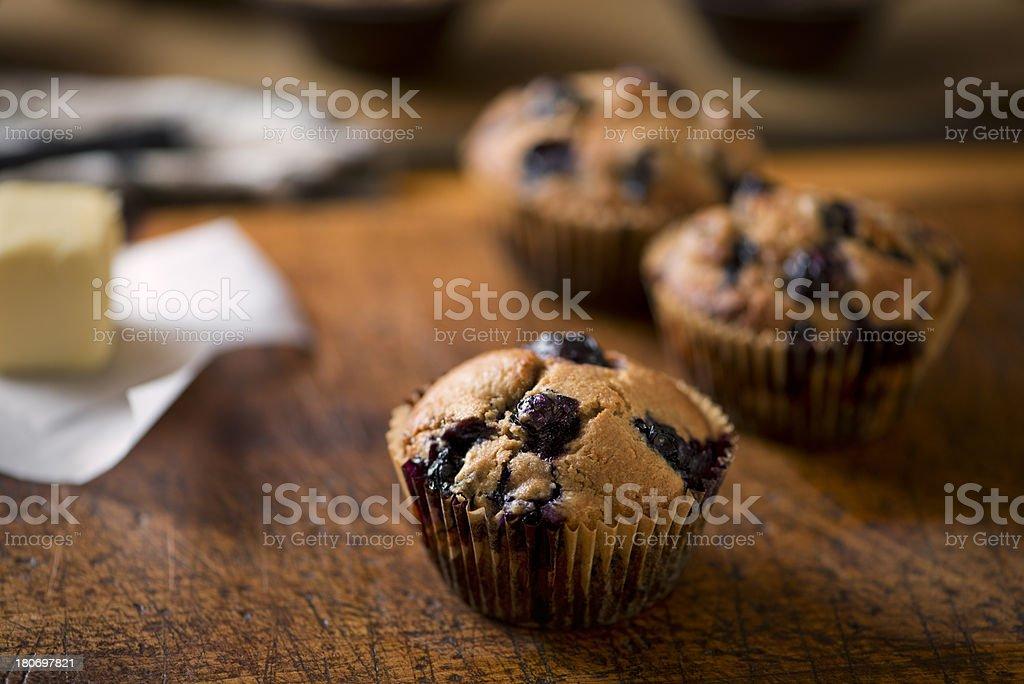 Fresh Blueberry Muffins - XXXL royalty-free stock photo