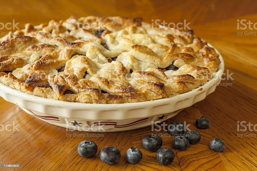 Fresh Blueberry Pie royalty-free stock photo