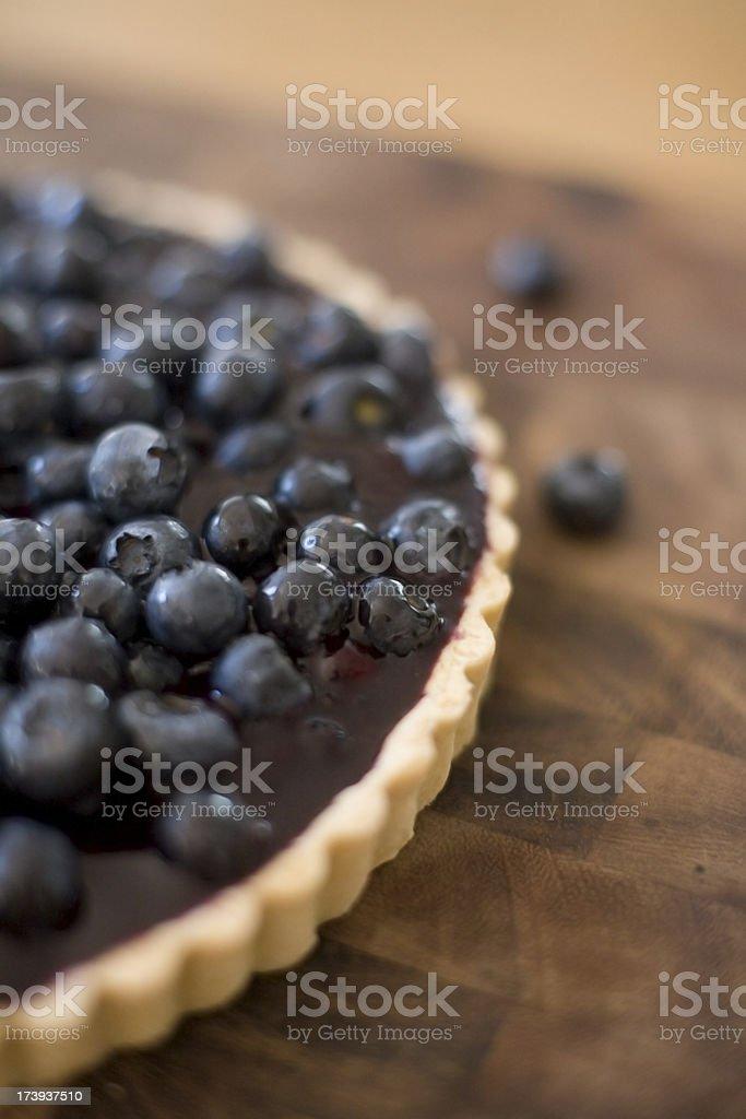 Fresh Blueberry Tart royalty-free stock photo