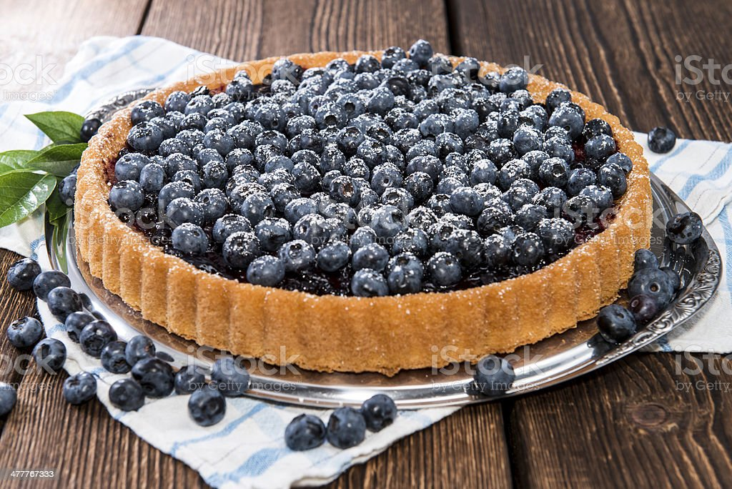 Fresh Blueberry Tart with fruits royalty-free stock photo