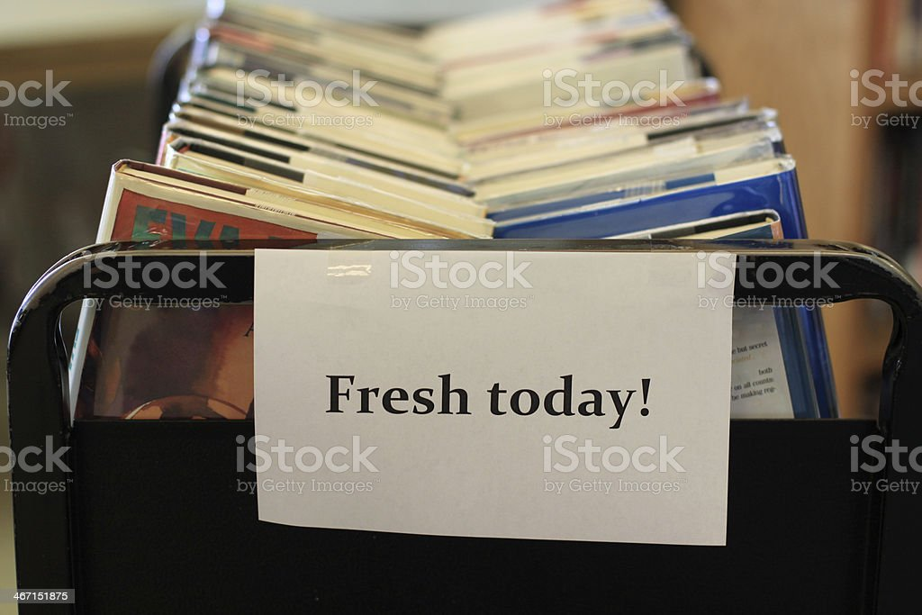 Fresh Books for Sale royalty-free stock photo