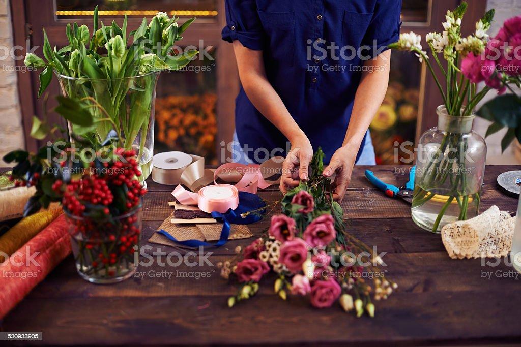 Fresh bouquet stock photo