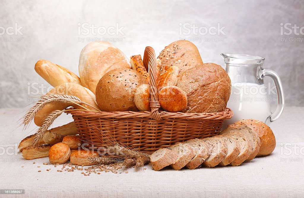 Fresh bread and pastry royalty-free stock photo