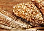 fresh bread and wheat