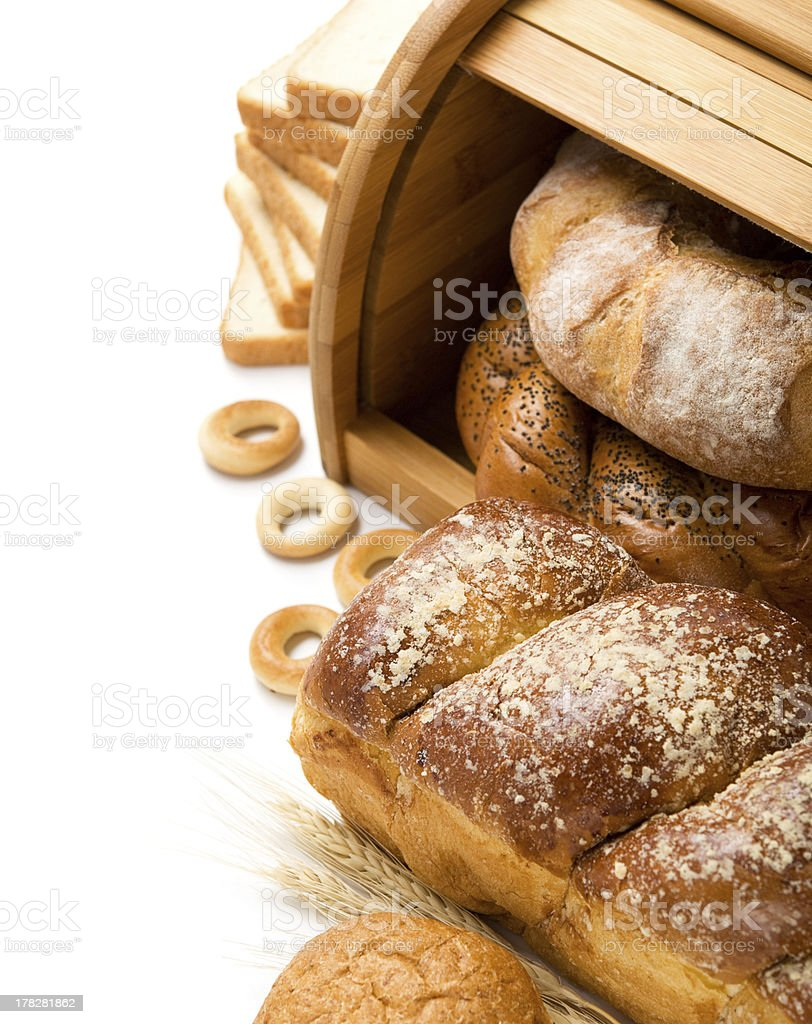 Fresh bread  composition with copy space stock photo