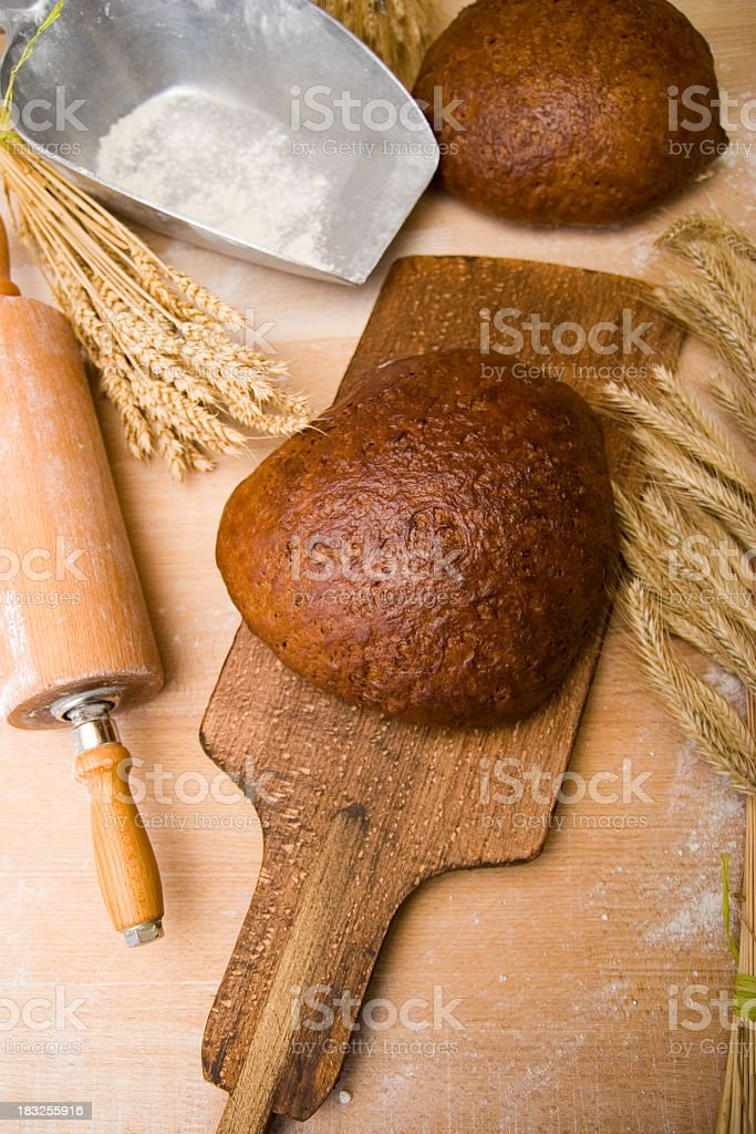 Fresh bread straight from the oven royalty-free stock photo
