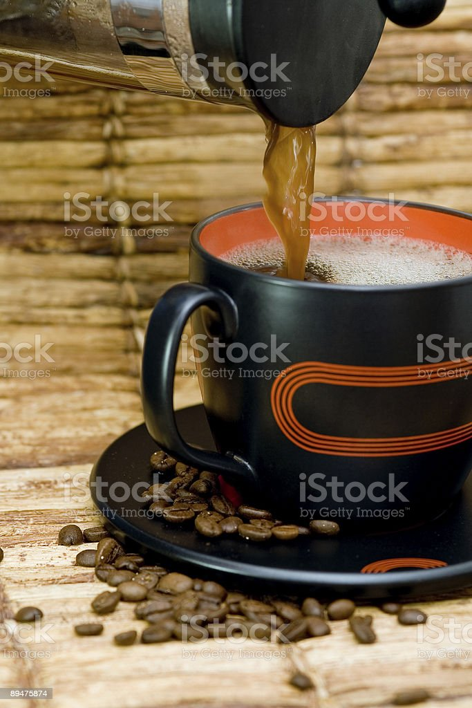 fresh brewed coffee royalty-free stock photo