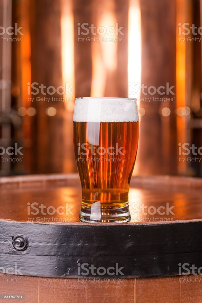 Fresh brewed lager. stock photo