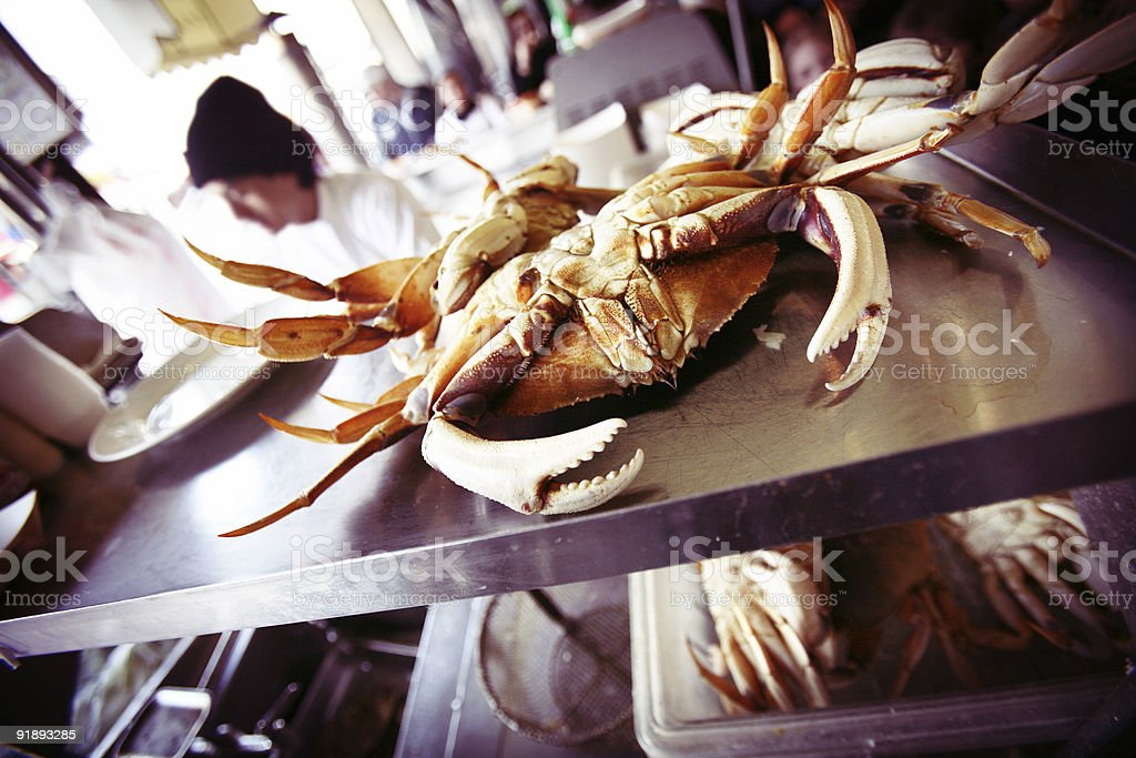 Fresh Bright Colorful Crab Ready to be Cooked royalty-free stock photo