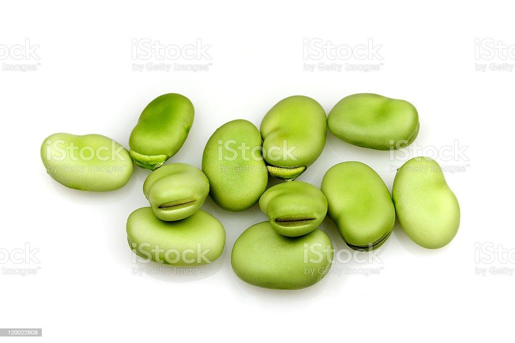 Fresh Broad Beans royalty-free stock photo