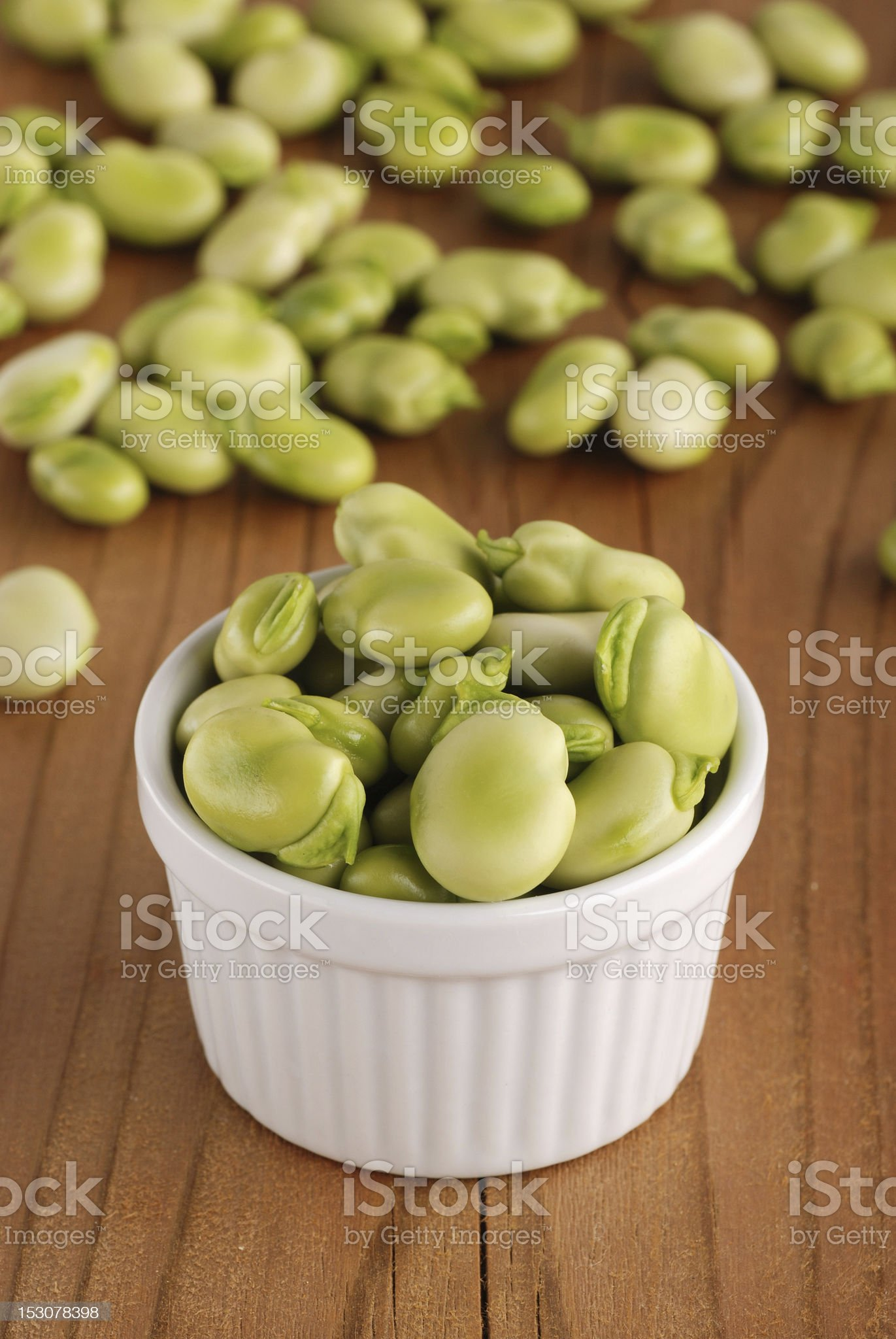 fresh broad beans royalty-free stock photo