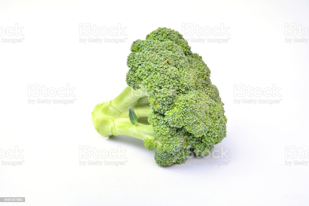 Fresh broccoli for healthy isolated on white background stock photo