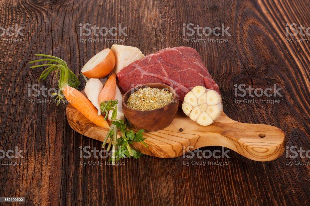 Fresh Broth Ingredients stock photo