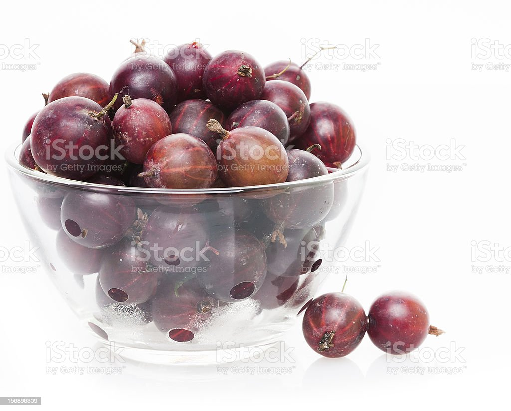 Fresh brown gooseberry in bowl royalty-free stock photo