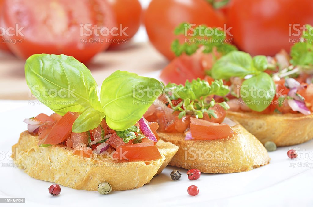 Fresh bruschetta royalty-free stock photo