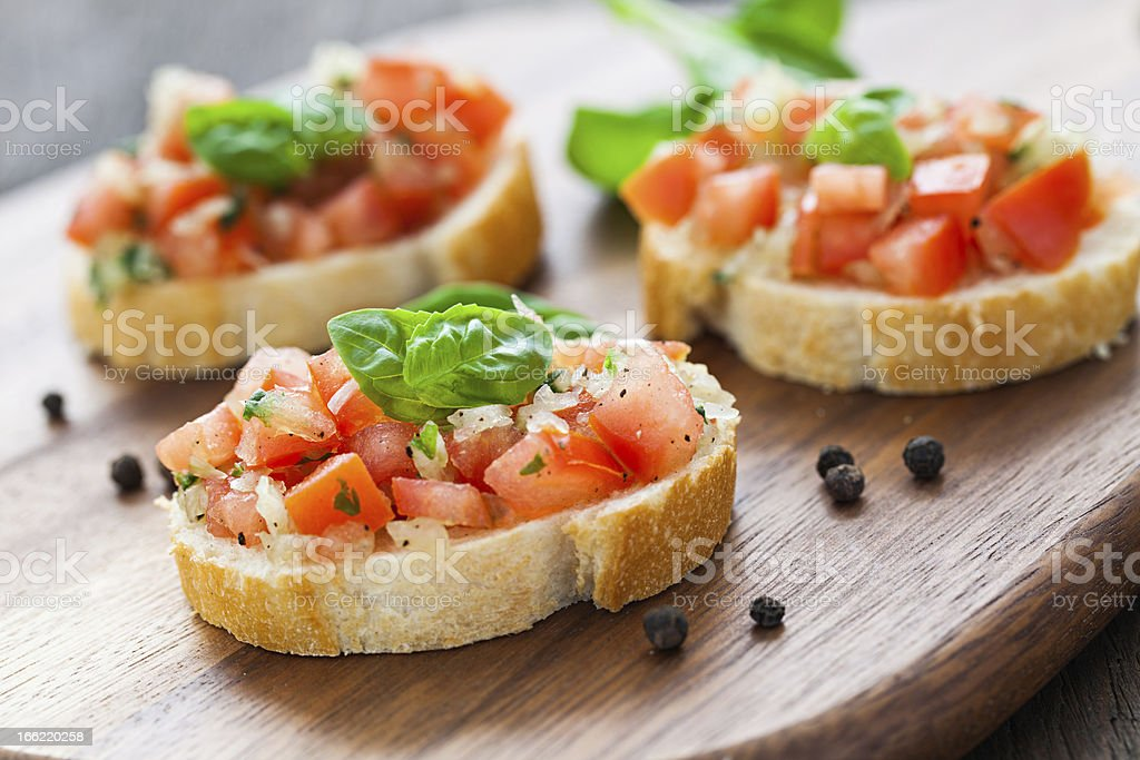 fresh bruschetta stock photo